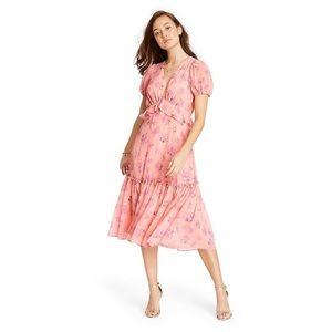 LoveShackFancy x Target Fleur Pink Midi Dress